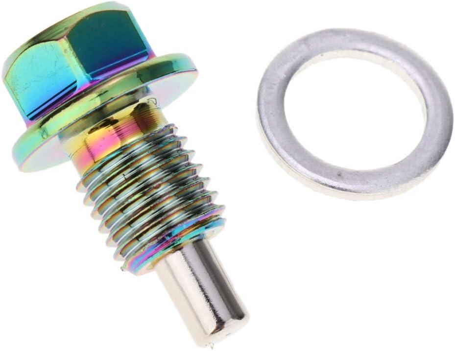 MAGNETISCH Magnetische Ölablassschraube M12x1.25 SCHWARZ Alu mit Dichtring