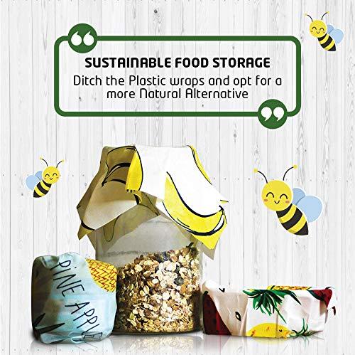 ecologico e riutilizzabile Stasher alimentare non plastico Set di 3 Alternativa per film Cling Beeswax Wrap Casa biologica per rifiuti zero Home sostenibile