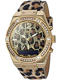 Women's Stainless Steel Connect Smart Watch - Amazon Alexa, iOS and Android Compatible, Color: Leopard (Model: C0002M6)