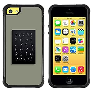 LASTONE PHONE CASE / Suave Silicona Caso Carcasa de Caucho Funda para Apple Iphone 5C / School Teach Teacher Minimalist