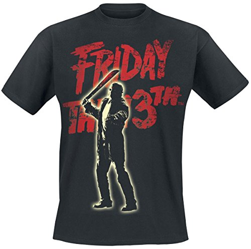 [Friday The 13th T Shirt Jason Voorhees new Official Mens Black] (Jason Vorhees Masks)