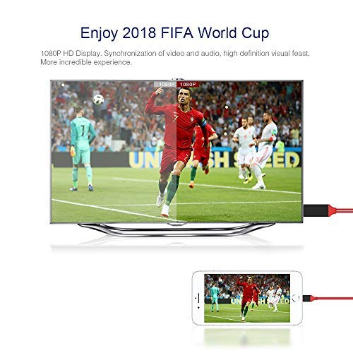 Smilerplus HDMI Cable Adapter 1080P HDTV Digital AV Adapter 8 Pin Cable Compatible Smartphone Projector
