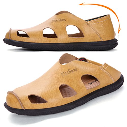 Jiyaru Heren Sport Sandalen Outdoor Hiking Fisherman Beach Casual Schoenen Geel