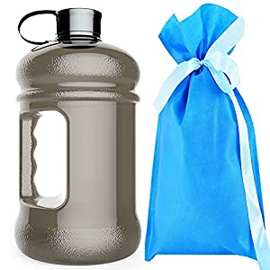 .High Capacity Wave Enviro Eastar Resin Sports Water Bottle BPA Free Reusable Portable Large Outdoor Fitness Training Jug Container(74oz)