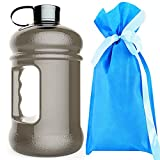 2.2 Litre(74OZ) Sport Water Bottle -Drinking Bottle-Wave bottles-Water Jug Durable & Extra Strong - BPA Free-Easily Accommodates Ice Cubes(Black)