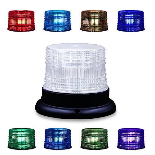 AnTom Led Magnetic Warning Beacon,Truck Car Vehicle Emergency Hazard 13 FT High Power Beacon Caution Warning Snow Plow Safety Flashing 25W Strobe Light 8 Color(Upgraded version)