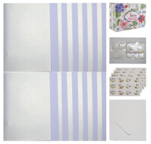 IDULL Card Making Kits for Wedding with 24 Cards, 24 Envelopes and ()