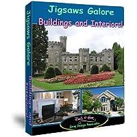 Jigsaws Galore Buildings and Interiors Puzzle Game para Windows PC: Castillos, casas contemporáneas, casas de campo, chalets, condominios, mansiones de campo, cocinas, casas, escenas interiores, arquitectura