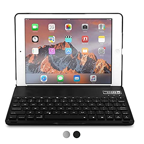 iPad Air Keyboard case, COOPER NOTEKEE F8S Backlit LED Bluetooth Wireless Rechargeable Keyboard Portable Laptop Macbook Clamshell Clamcase Cover with 7 Backlight Colors for Apple iPad Air (Cool Ipad Air Case)