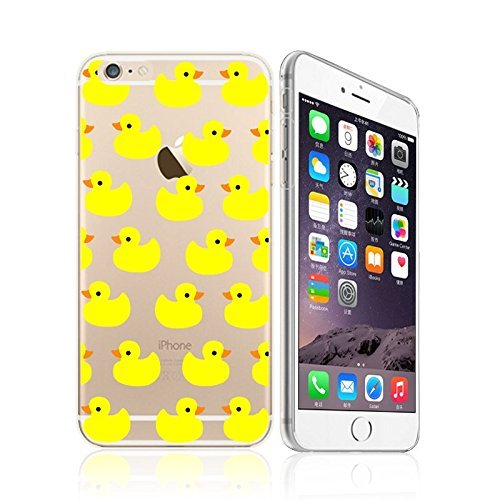 Price comparison product image iPhone 6 / 6S, Yellow Rubber Duck Overload Ultra Slim Silicone Phone Case Back Cover