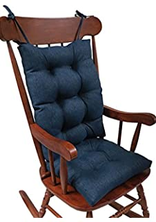 The Gripper Non Slip Omega Jumbo Rocking Chair Cushions, Indigo