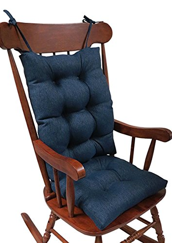 High Quality The Gripper Non Slip Omega Jumbo Rocking Chair Cushions, Indigo