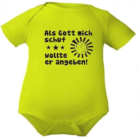 KLEINER FRATZ Body Baby mit Namen und den Eigenschaften des Kindes//Kurzarmbody M/ädchen Motiv Jungen