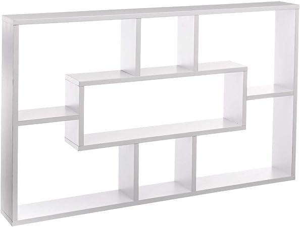 JJA Five – Estantería de pared Multi blanca: Amazon.es: Hogar