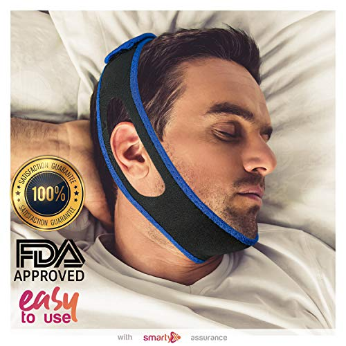 - SmartyX Anti snoring Chin Strap Device - as Snore Stop, Sleep Solution Upgrade 2018 - Adjustable Snore Stopper for Women & Men