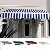UBRTools Manual Patio 6.4' x 5' Retractable Deck Awning Sunshade Shelter Canopy