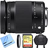 Sigma 18-300mm F3.5-6.3 DC Macro OS HSM Lens (Contemporary) for Canon EF Cameras includes Bonus Sigma Close-Up Lens and More