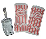J&D-Sells Popcorn Bags 500 Count with Plastic Spoon Bulk Popcorn Bags - 1 oz Popcorn Bag Set Perfect for Popcorn Machine - Good Portion for Carnival or Birthday Parties and Events or Movie Night