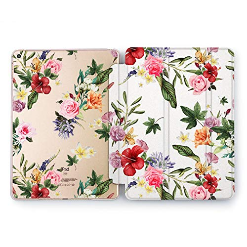 Wonder Wild Floral Beauty iPad Mini 1 2 3 4 Air 2 Pro 10.5 12.9 Tablet 2018 2017 9.7 inch Fresh Shell Smart Stand Peony Summer Flower Pretty Sweet Beautiful Tulips Rose Print Leaves Clear Design