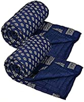 Jaipurwala Dark Blue Single Bed Quilt/Razai/Rajai-Set of 2