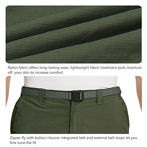 Baleaf Men's Quick Dry UPF 50+ Cargo Camo Pants Army Green 34W by Baleaf (Image #5)