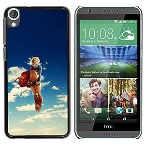 EJOY---Cubierta de la caja de protección la piel dura para el / HTC Desire 820 / --Super Girl héroe