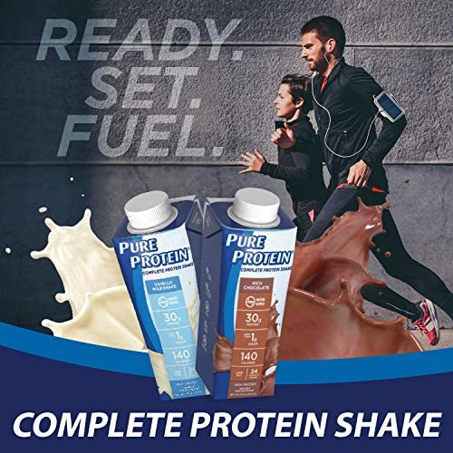 Pure Protein, Complete Protein Ready to Drink Chocolate Shake, 30g Whey Protein, Snack, With Vitamin A, Vitamin C, Vitamin D, and Zinc to Support Immune Health, 11oz, Pack of 12 5
