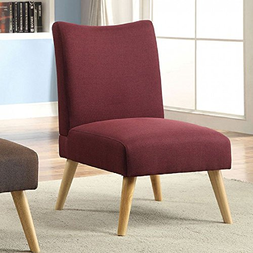 Price comparison product image Murcia Purple Linen-like Fabric Accent Chair by Furniture of America