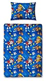 Children's Cot Bed/Junior/Toddler Bed Duvet Cover and Pillowcase Sets - 120cm x 150cm (Paw Patrol 'Rescue')