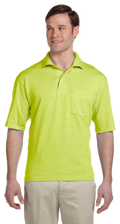 Jerzees 56 oz, 50/50 Jersey Pocket Polo with SpotShield, SAFETY ORANGE