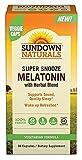 Sundown Naturals Super Snooze Melatonin, 90 Capsules Each (Pack of 12)