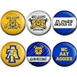 WinCraft North Carolina A&T Aggies Official NCAA Metal Button Badge Pin Set 6 Pack by 991676
