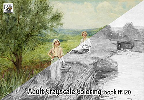 Coloring Outdoors Landscapes Painting Grayscale product image