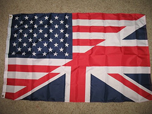 (3X5 Usa American Great Britain British Flag Us Uk Friendship Banner Union Jack)