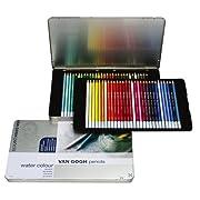 ヴァンゴッホ水彩色鉛筆60色セセット(メタルケース入り)