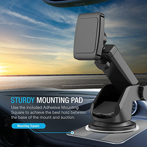 Maxboost Dashboard Mount, Universal Durahold Magnetic Car Mount w/Extended Adjustable Arm Perfect on Windshield Car Mount Holder For Phones, iPhone X 8 7 6s 6 Plus, Galaxy s9, s8, Note 8,LG,Pixel 2 by Maxboost (Image #2)