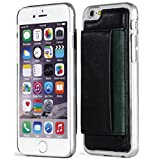 iPhone 6S Case, Aceabove [KICKSTAND][BLACK] Slim Protective Leather Wallet Cover Case with Stand Feature and Credit Card wallet case for Apple iPhone 6 (2014) / iPhone 6S (2015)