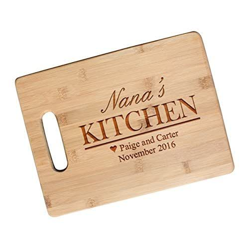 Personalized Moms Kitchen Gift Cutting Board