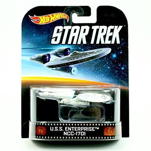 U.S.S. ENTERPRISE NCC-1701 * STAR TREK * Hot Wheels 2013 Retro Series Die Cast Vehicle