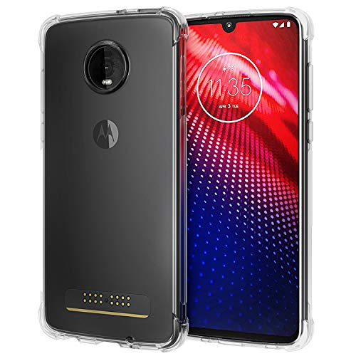 [2-Pack] Moto Z4 Case, SPARIN Moto Z4 Clear Case with Scratch Resistant/Camera Protection/Shock Absorption/Soft TPU Case for Motorola Z4, 6.4 Inch
