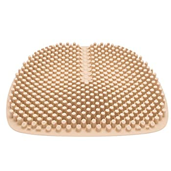 Abo Summer Breathable Silicone Cushions, Back Support, Coccyx and Sciatic Pain Relief, Easy to Clean, Unique 3D Pillar Design can be Progressive Massage Hips, Relieve Fatigue. (Brown)