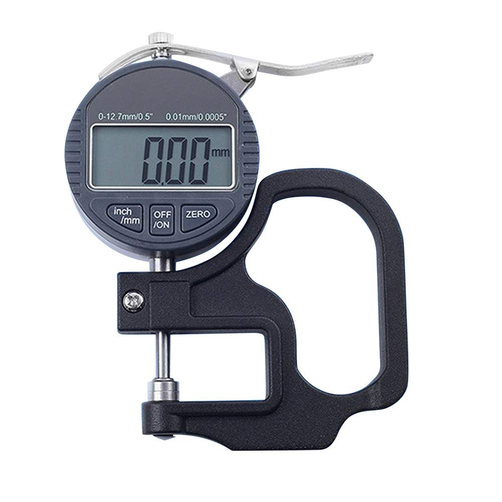 0.01mm Digital Thickness Gauge Tester Meter Paper Film Leather Measuring Tool for Thickness of Jewelry Leather Rubber Fabric Wire Paper Film Metal Sheet