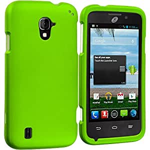 Accessory Planet(TM) Neon Green Hard Snap-On Matte Rubberized Case Cover Accessory for ZTE Majesty Z796C