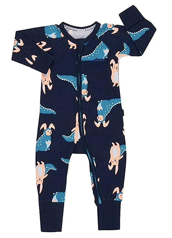 Bonds Baby Wondersuit 2 Way Zipper Sleep//Play Fold Over Feet//Cuffs Footies