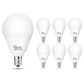 Techgomade A15 Led Globe Candelabra Base Bulb E12 Base Light Bulbs