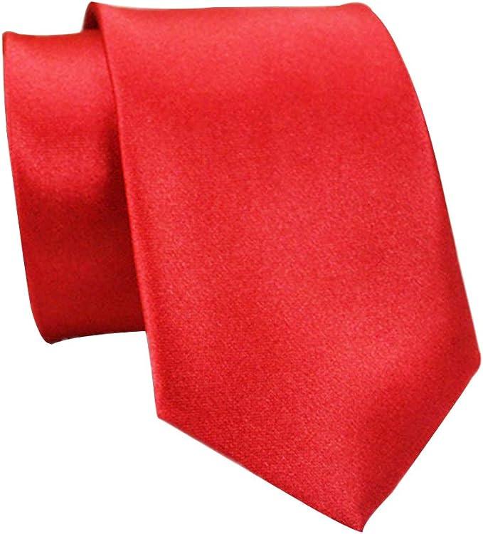 Corbata de cuello de seda de poliéster de 5 cm para hombre gris ...