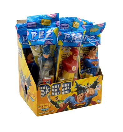 Pez Dc Comics Justice League Assortment Candy Dispensers, 0.58 Ounce (Pack of 12)