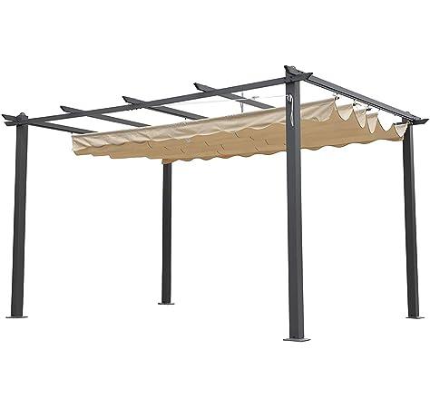 Alices Garden - Pergola, Aluminio, Crudo, 3x3 m: Amazon.es: Jardín