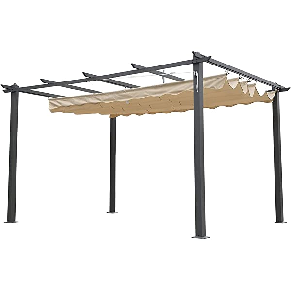 Alices Garden - Pergola, Aluminio, Crudo, 3x3 m: Amazon.es: Jardín