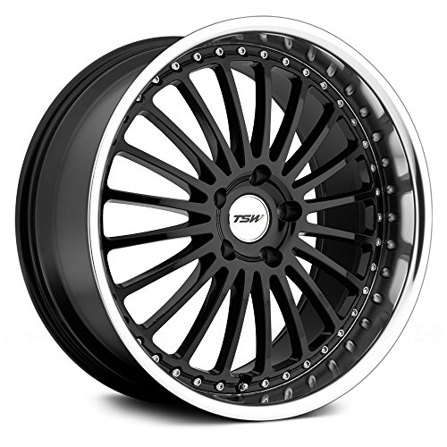 TSW Silverstone Gloss Black Wheel with Machined Lip (17x8